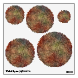 Colorful Earth Tones Brown Blue Abstract Wall Decal