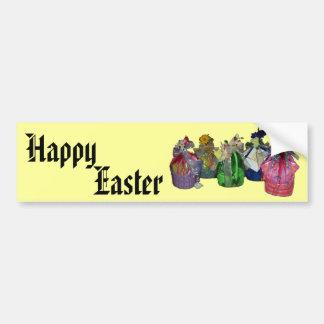 Colorful Easter Baskets Design Bumper Sticker