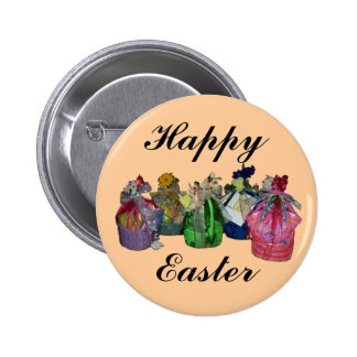 Colorful Easter Baskets Design Buttons