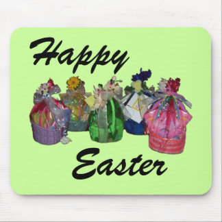 Colorful Easter Baskets Design Mouse Pad