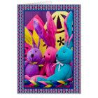 Colorful Easter Bunnies II Card