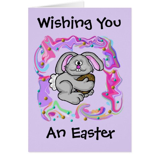 Colorful Easter Bunny Card   Customize It