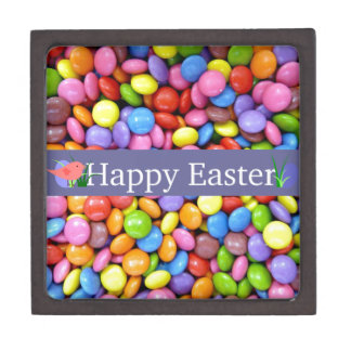 Colorful Easter Candies Jewelry Box