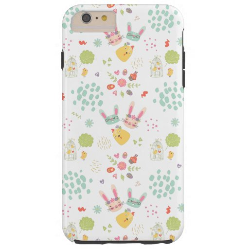 Colorful Easter Clipart Pattern Tough iPhone 6 Plus Case