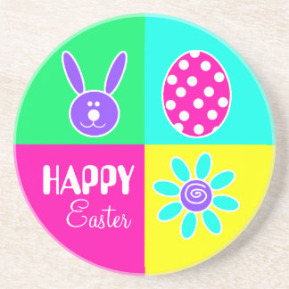 Colorful Easter Drink Coaster