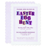 Colorful Easter Egg Hunt Pennant Invitation