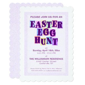 Colorful Easter Egg Hunt Pennant Invitation