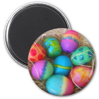 Colorful Easter Eggs 2 Inch Round Magnet