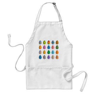 Colorful Easter Eggs Adult Apron