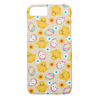 Colorful Easter Eggs and Chicks Pattern iPhone 7 Case