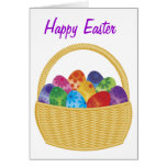 Colorful Easter Eggs Basket Card