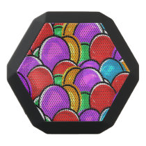 Colorful Easter Eggs Black Bluetooth Speaker