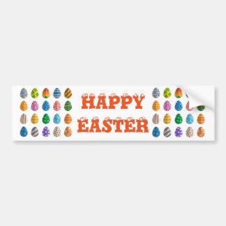 Colorful Easter Eggs Bumper Sticker