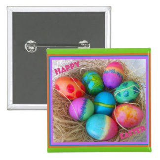 Colorful Easter Eggs Button