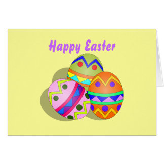 Colorful Easter Eggs Card