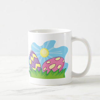 Colorful Easter Eggs Classic White Coffee Mug