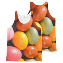 Colorful Easter Eggs Custom Photo All-Over-Print Tank Top