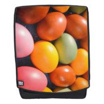 Colorful Easter Eggs Custom Photo Backpack