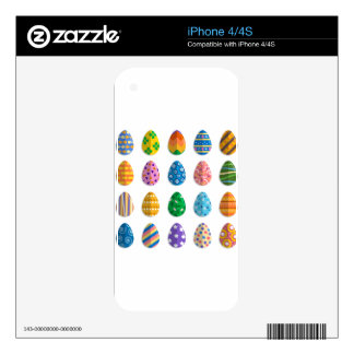 Colorful Easter Eggs Decal For iPhone 4