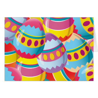 Colorful Easter Eggs - Fiesta Colors Card