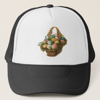 Colorful Easter Eggs Fill a Vintage Easter Basket Trucker Hat