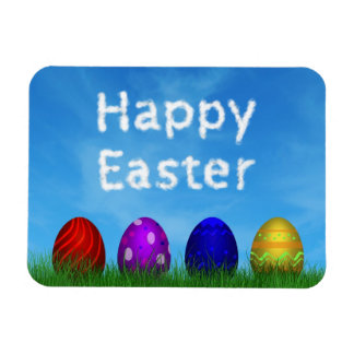 Colorful Easter Eggs - Flexible Magnet