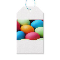 Colorful Easter Eggs Gift Tags