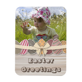 Colorful Easter Eggs greeting Magnet