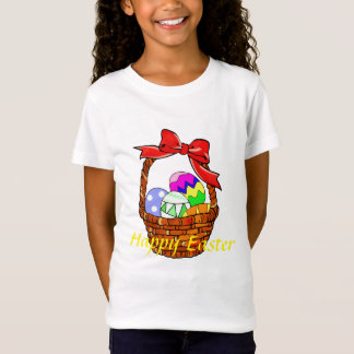Colorful Easter eggs in a basket T-Shirt