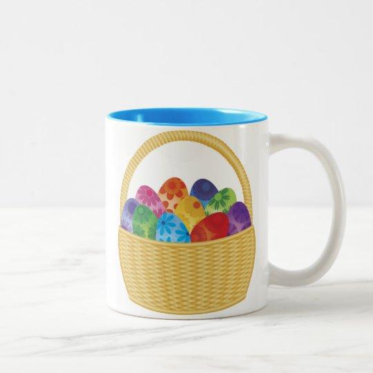 Colorful Easter Eggs in Basket Mug