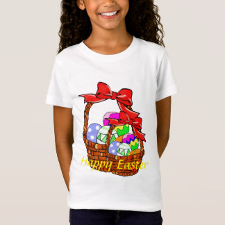 Colorful Easter eggs in baskets T-Shirt