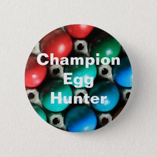 Colorful Easter Eggs in Carton Button