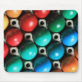 Colorful Easter Eggs in Carton Mouse Pad