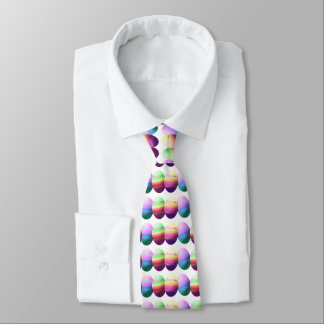 Colorful Easter Eggs Neck Tie