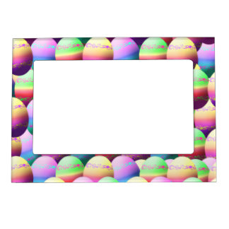 colorful easter eggs picture frame