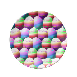 Colorful Easter Eggs Plate Porcelain Plates