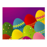 Colorful Easter Eggs Post Card