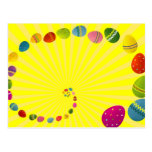 Colorful Easter Eggs Post Cards