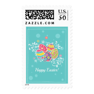 Colorful Easter Eggs Postage