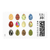 colorful easter eggs postage postal stamps