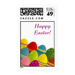 Colorful Easter eggs postage stamp