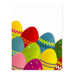 Colorful Easter Eggs Postcard