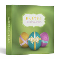 Colorful Easter Eggs Recipes Cookbook binder