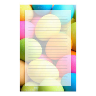Colorful Easter Eggs Stationery