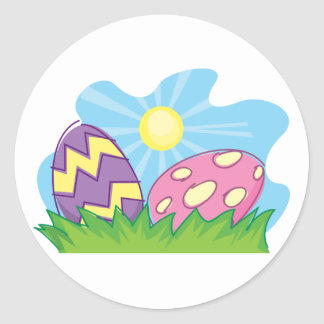 Colorful Easter Eggs Stickers