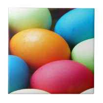 Colorful Easter Eggs Tile