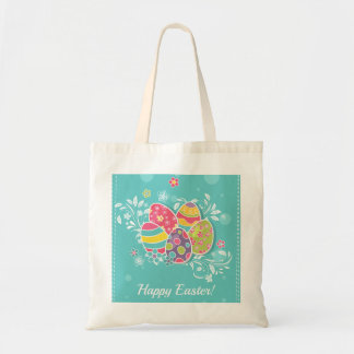 Colorful Easter Eggs Tote Bag