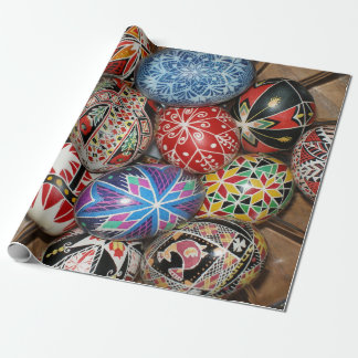 Colorful Easter eggs Wrapping Paper