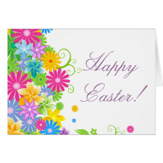 Colorful Easter Flower Bunch Stationery Note Card