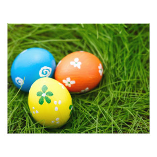 Colorful Easter's eggs Flyer